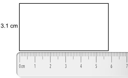 The Scale Indicates 5 Full Units Or 5 Centimetres There Are 8 Small Divisions From The 5cm Mark The Measurement Is 5 8cm As The Given Dimension Is In